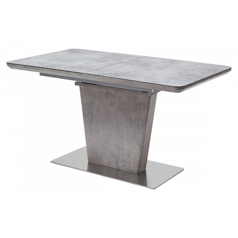 Стол RIO 140 Glazed Glass вулкано — серый