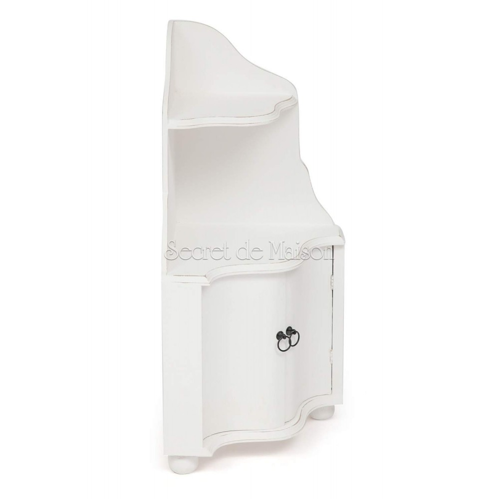 Угловая полка Secret De Maison TOLE ( mod. 217-1104 ) — античный белый