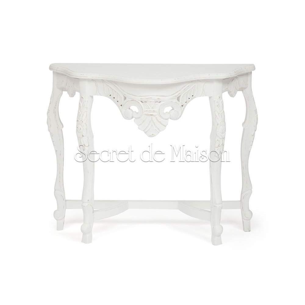Столик консоль Secret De Maison LAVANDE (mod. 217-1107 ) — античный белый