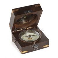 Часы и компас в деревянной коробочке Secret De Maison  (mod. 49398) — античная медь