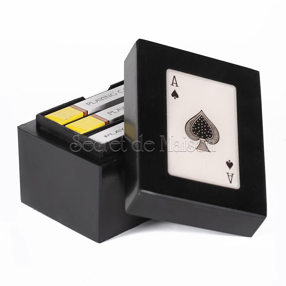Шкатулка с игральными картами Secret De Maison  (mod. 46397) — черный