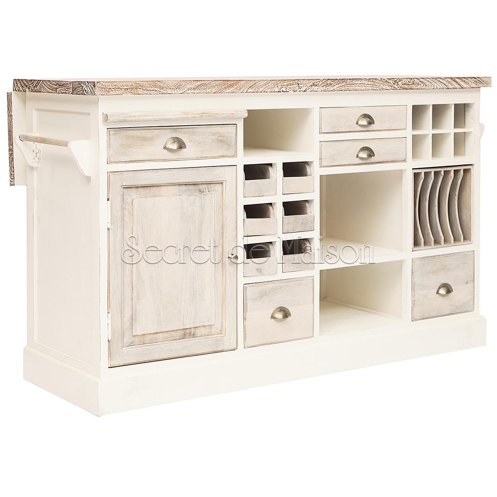 Кухонный остров Secret De Maison RIVIERA ( mod.2248A ) — античный белый