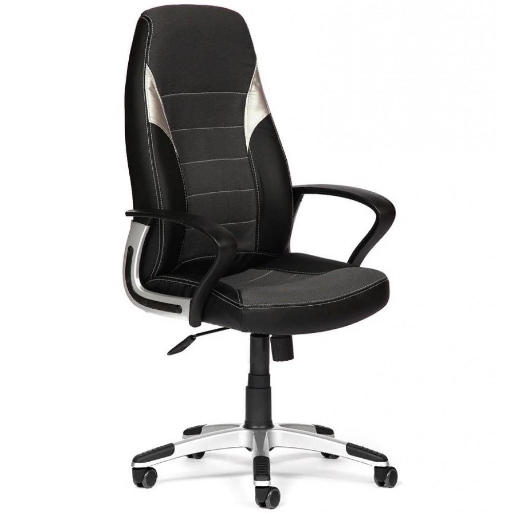 Кресло компьютерное INTER — черный/серый