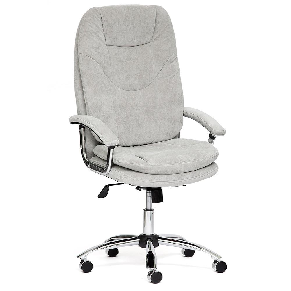 Кресло офисное SOFTY LUX хром — серый