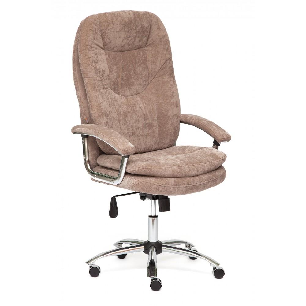 Кресло офисное SOFTY LUX хром — коричневый