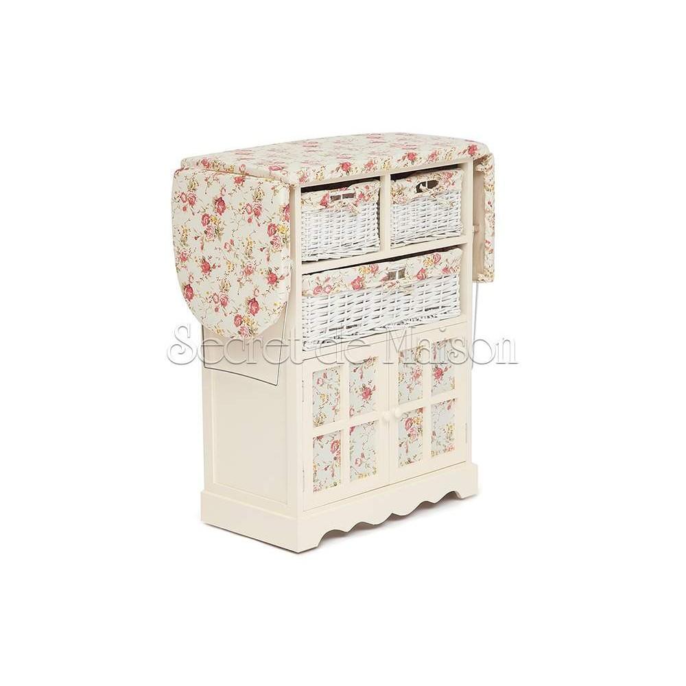 Гладильный комод с 3-я корзинами Secret De Maison CAMPANARD ( mod. PE-03 ) — слоновая кость