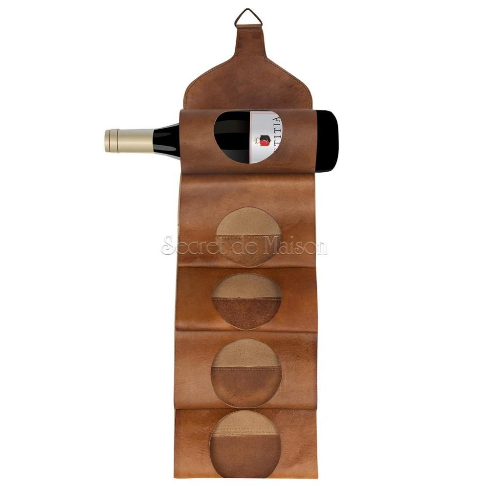 Бутылочница Secret De Maison BANDOLEER ( mod. 501 ) — коричневый