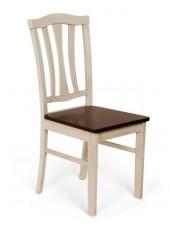 Стул с твёрдым сиденьем СТ 8162 (Античный белый/Тёмный дуб)