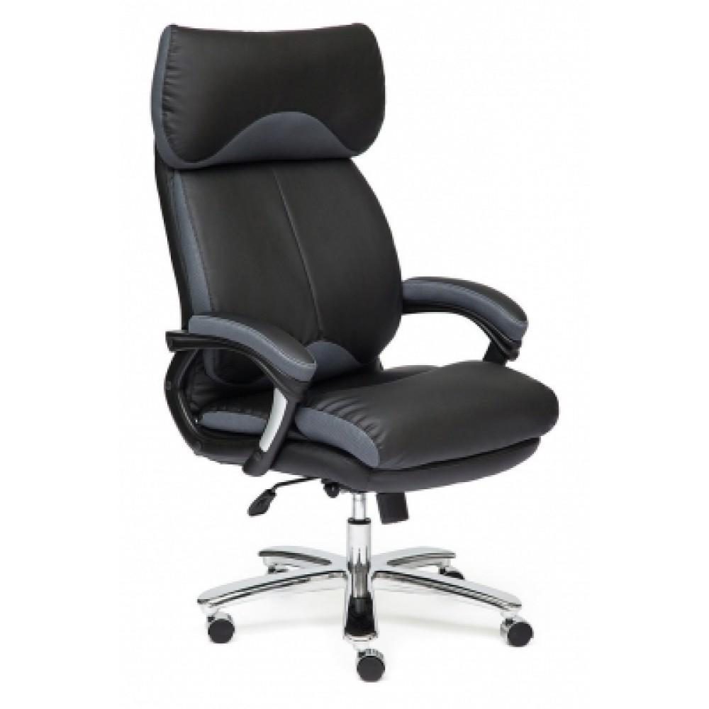 Кресло офисное GRAND — черный/серый