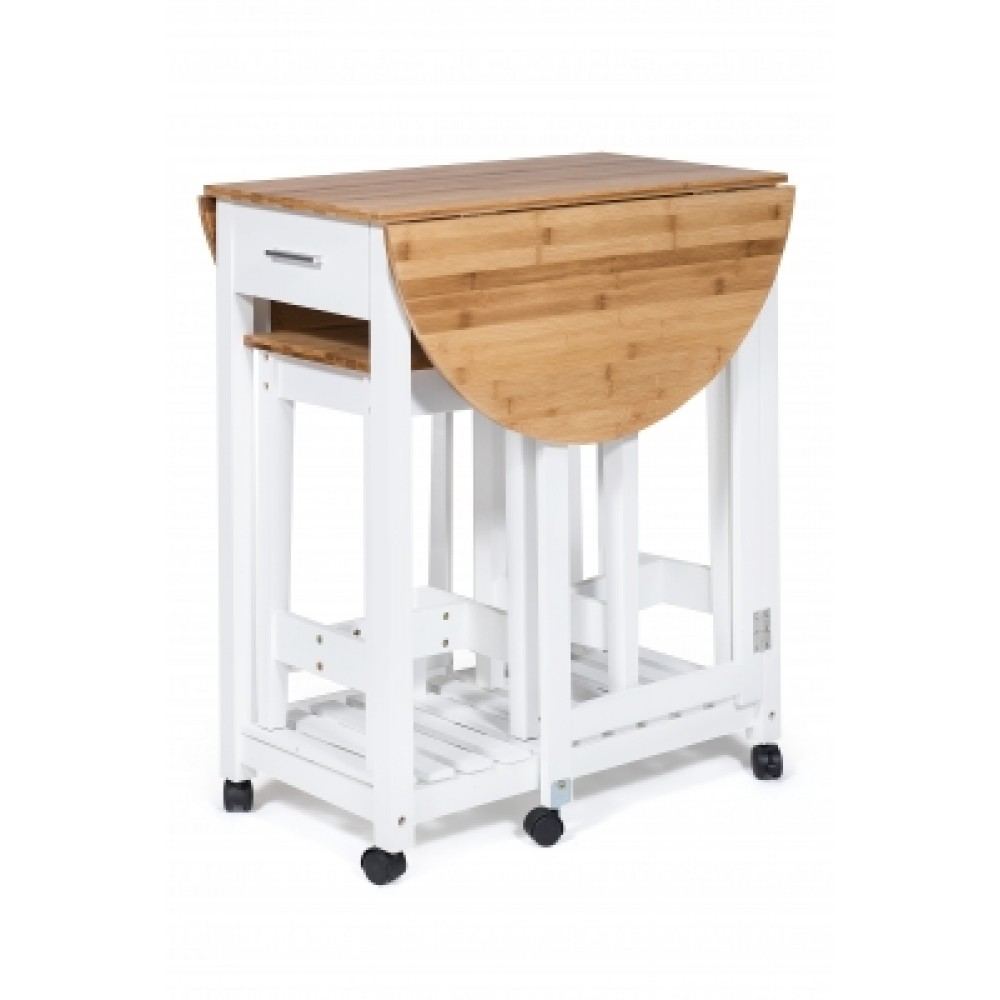 Стол кухонный  с табуретом (mod. JWPE-120807) — натуральный