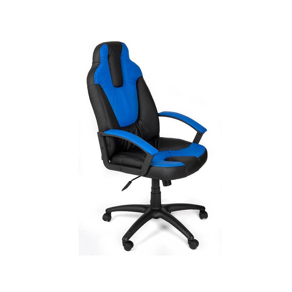 Кресло компьютерное Нео 2 (Neo 2) — черный/синий (36-6/36-39)
