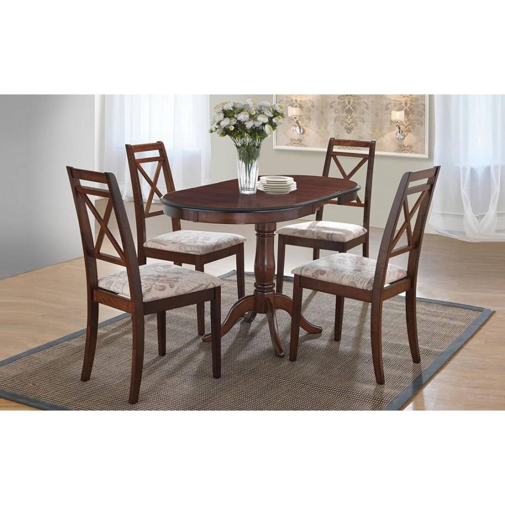 Стол обеденный Солерно (Solerno ME-T4EX) MAF Brown — Maf brown (коричневый в рыжину)
