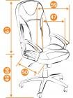 Кресло компьютерное Твистер (Twister) — черный/красный (36-6/36-161)