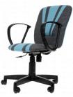 Кресло компьютерное Спектрум (Spectrum) — серый/голубой (207/2613)
