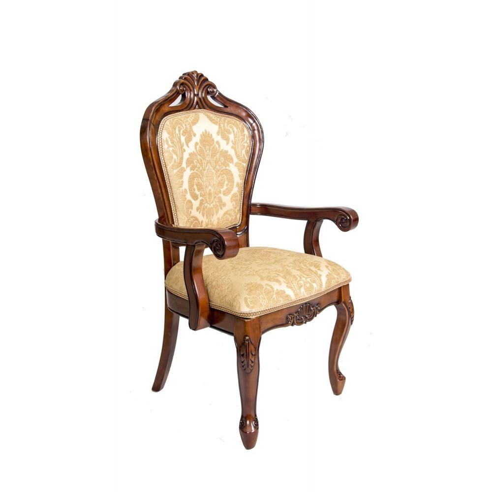 """Кресло, обитое тканью """"Юлиана"""" —  Темный орех (MK-3040-BR)"""