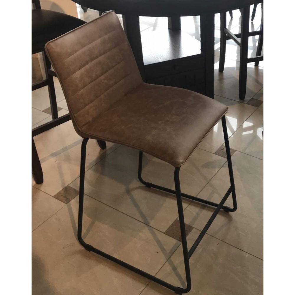 "Барный стул ""Вестон (Veston)"" обитый экокожей —  Светло-серый (MK-4325-LG)"