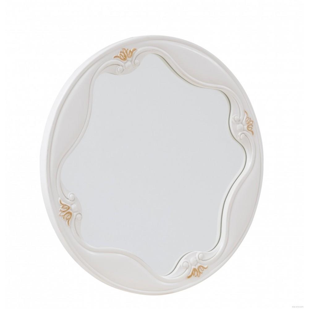 "Зеркало ""Луиза (Luisa)"" —  Белый (с золотом) (MK-5009-WG)"