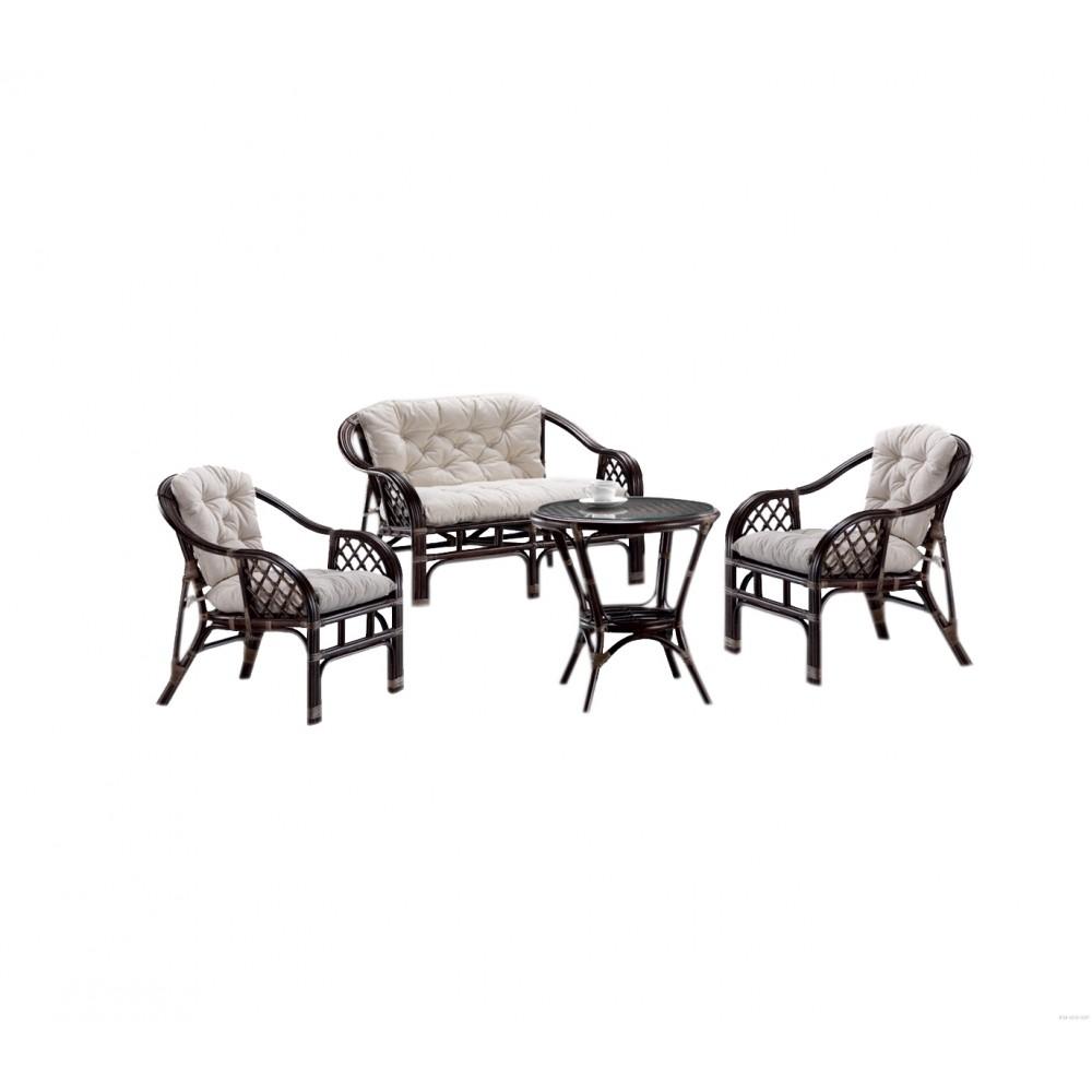 """Софа двухместная """"Sratwart"""" с подушками —  Коричневый (MK-6101-BR)"""