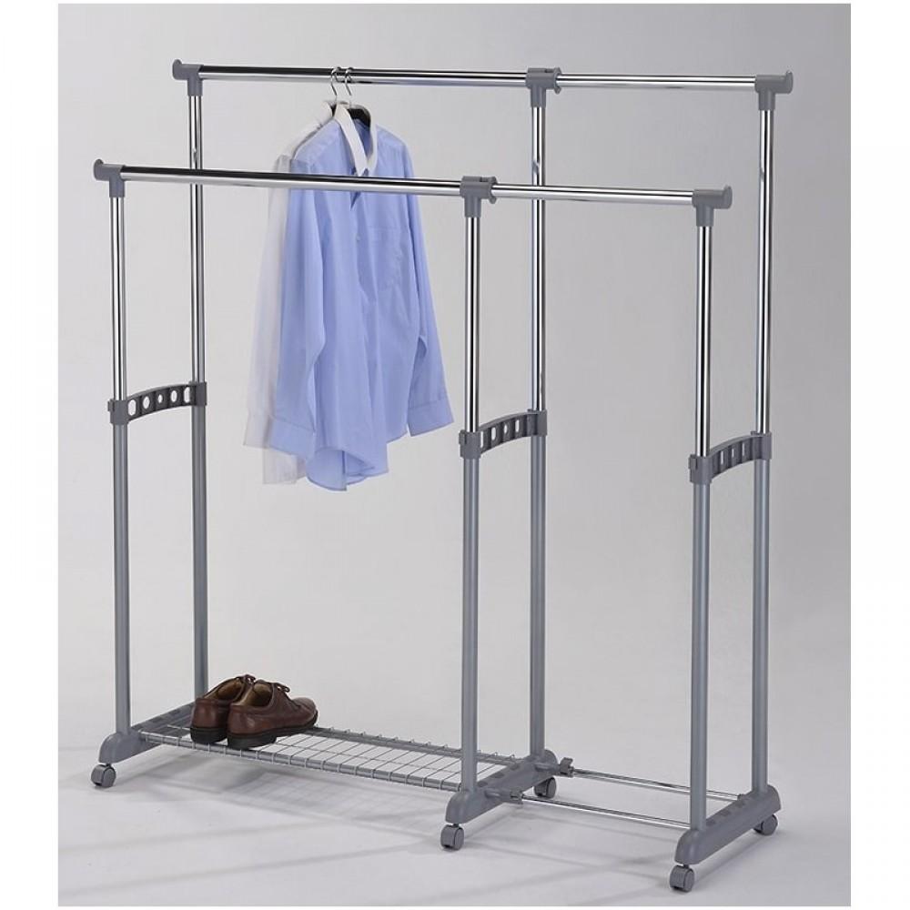 Вешалка для гардеробных на высоких ножках (CH-4003-L) — Хром (MK-6307)
