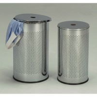Набор из 2-х метал. корзин для белья — Хром (MK-6321)