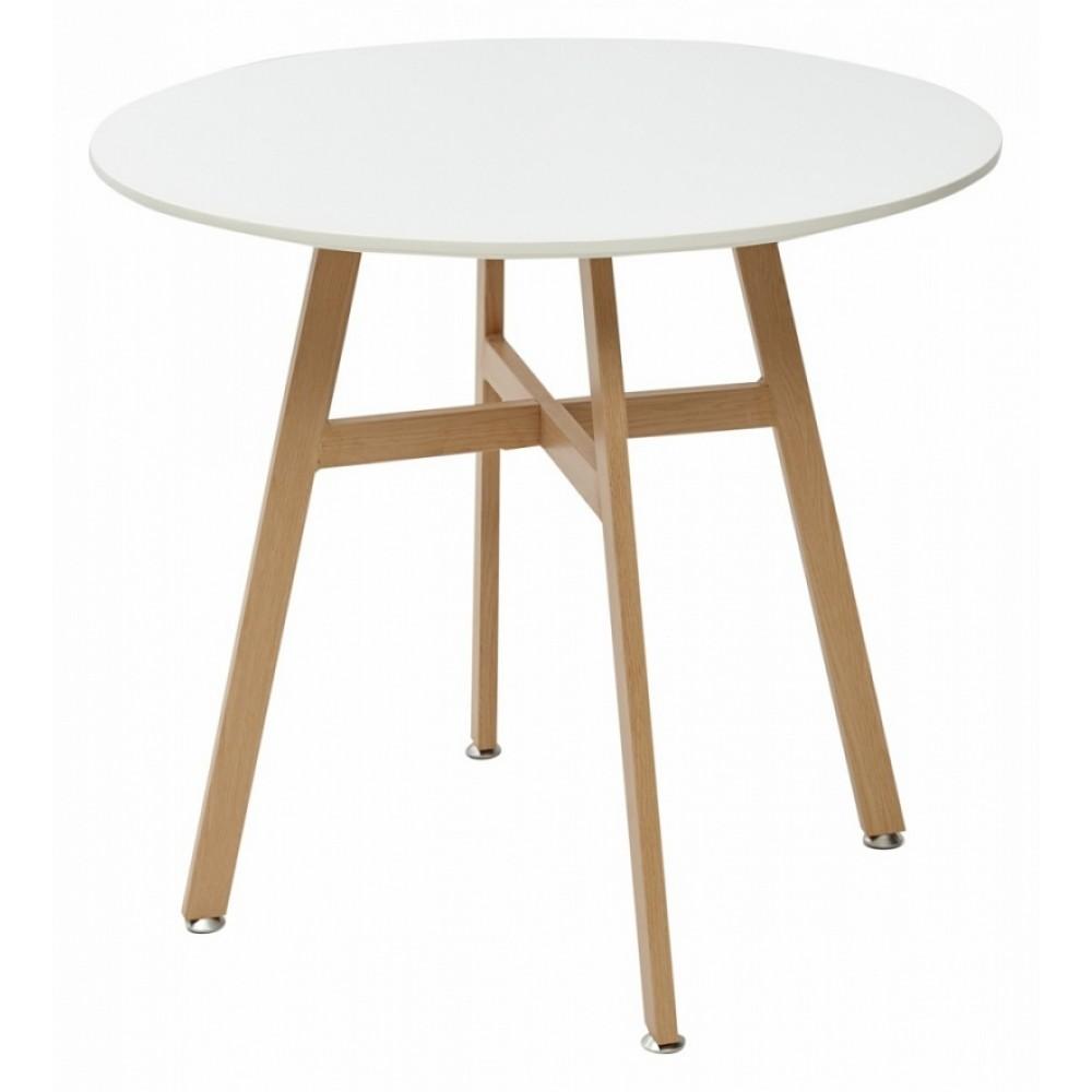 Стол SATEL D80 белый/металл ламинированный