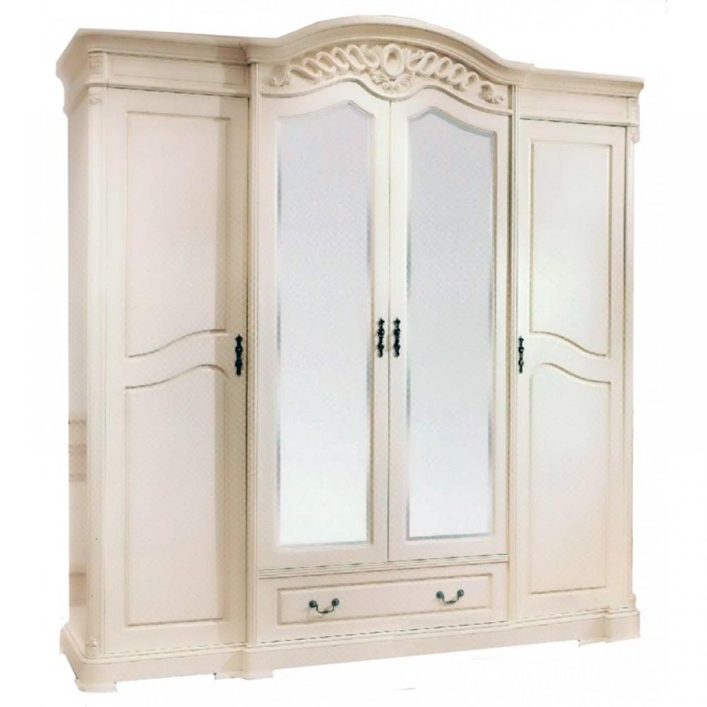 Шкаф Паола 518 4-дверный  Слоновая кость