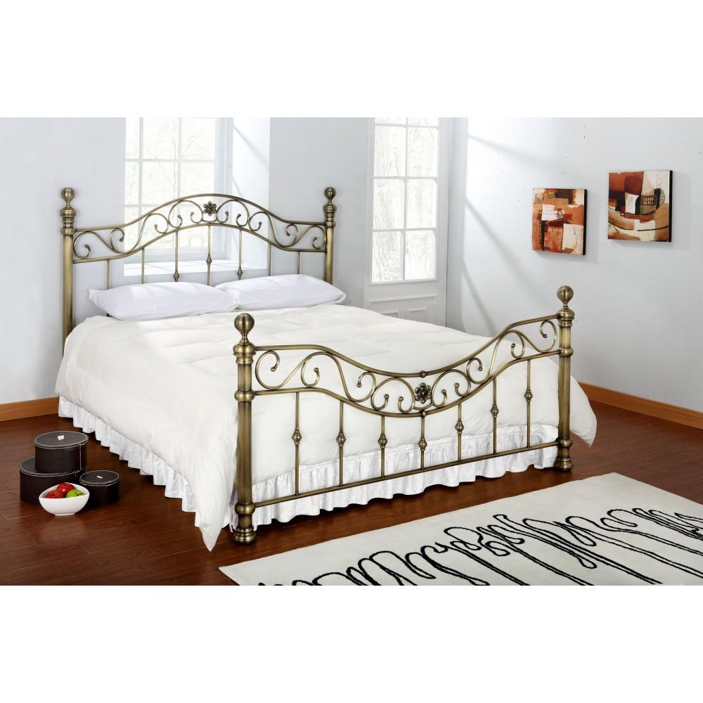 Кровать металлическая CHARLOTTE — античная медь