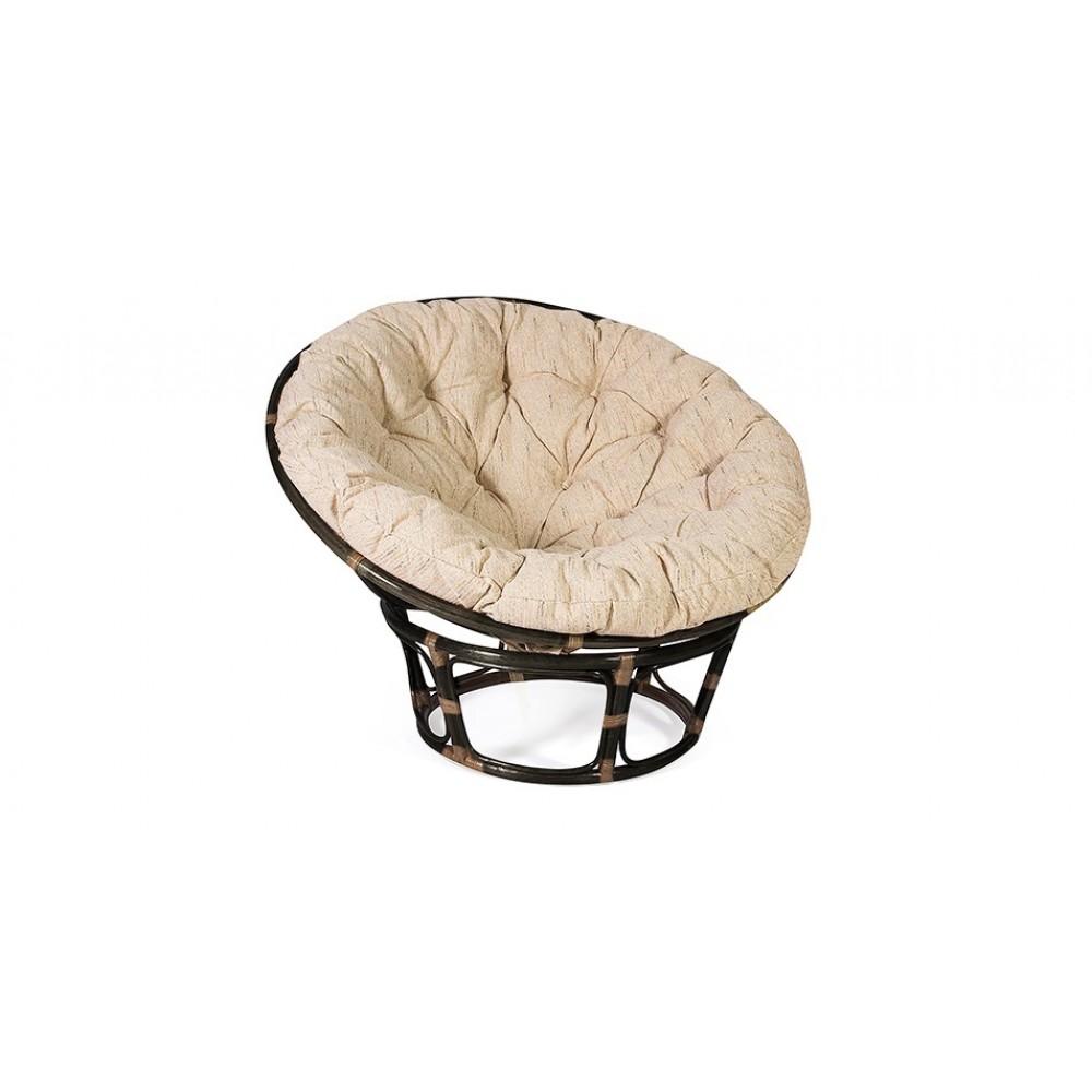 """Кресло """"Папасан (PAPASAN)""""  23/01 W / без подушки / — Antique brown (античный черно-коричневый)"""