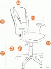 Кресло компьютерное Остин (Ostin) — серый/фисташковый (Мираж грей/TW-25)