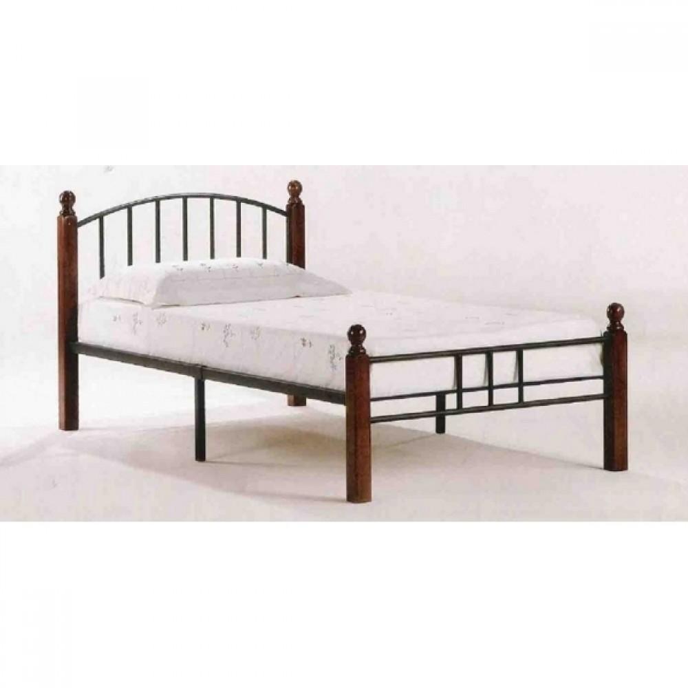 Кровать АТ-915 200x90 (Single) Черный/Красный дуб
