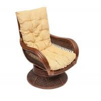 Кресло-качалка Андреа релакс медиум (Andrea Relax medium) с подушкой — античный орех