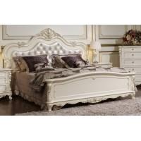 Кровать Глория 1,8 (MK-2701-WG) Молочный с золотом