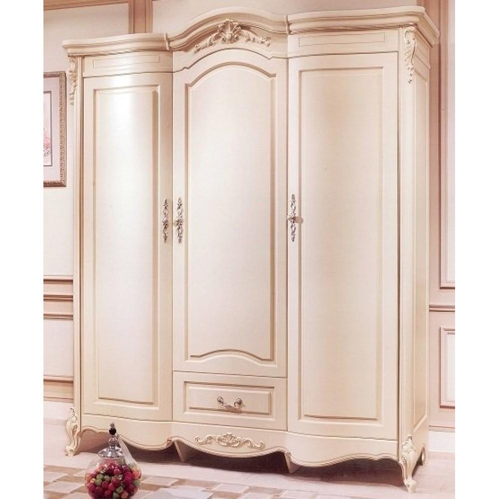 Шкаф 3-дверный Милано (8803-B MK-1835-IV) Слоновая кость