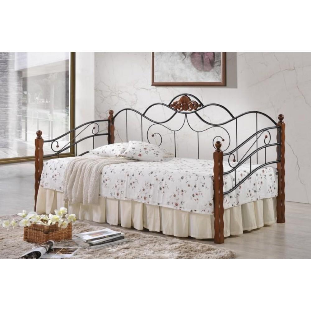 Кровать-кушетка AT-881 200x90 (MK-2016-RO) Темная вишня