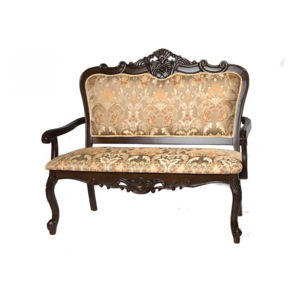 Двухместное кресло 20901 (MK-1301-HG) Темный орех