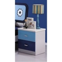 Тумбочка прикроватная Бамбино (Bambino MK-4601-BL) Синий-белый