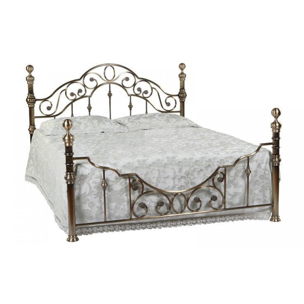Кровать Каролина 200x180 (9603 MK-2206-AB) Античная медь