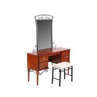 Туалетный столик с банкеткой 1104-АМ-DT (MK-2119-RO) Темная вишня