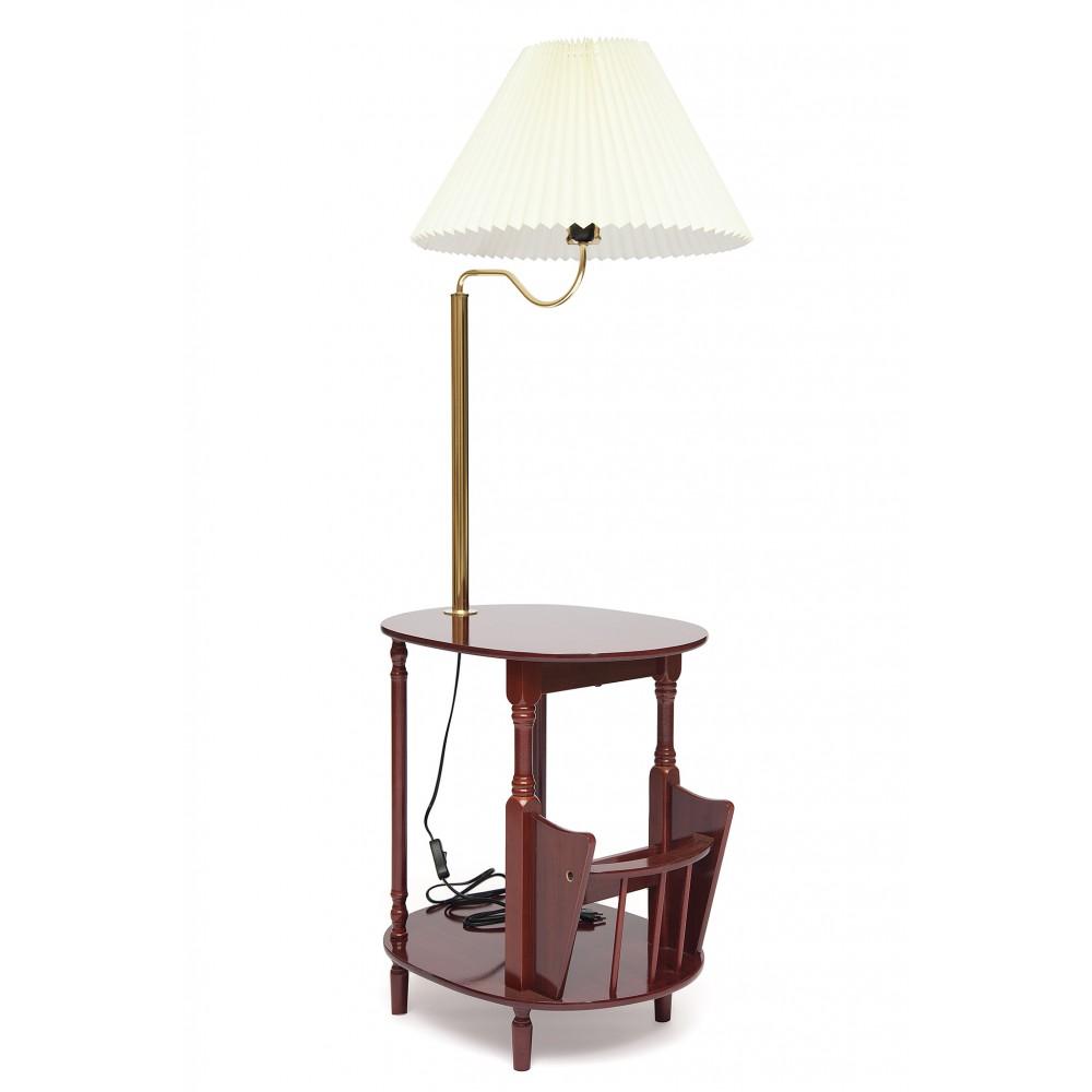 Столик газетница с лампой SR-0751-LP — Cherry (вишня)