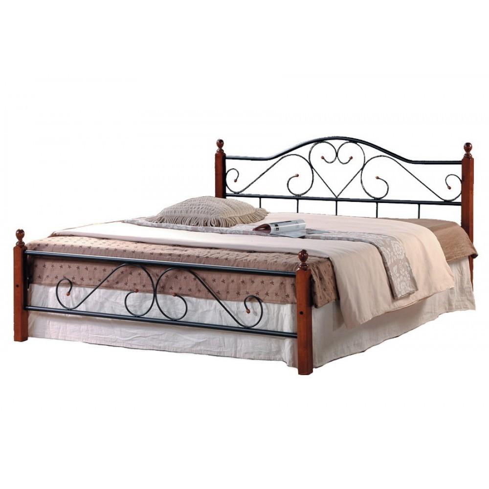 Кровать АТ-815 200x180 (King) Черный/Красный дуб