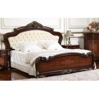 Кровать Аманда 1,6 (FF6095 MK-2714-DN) Темный орех