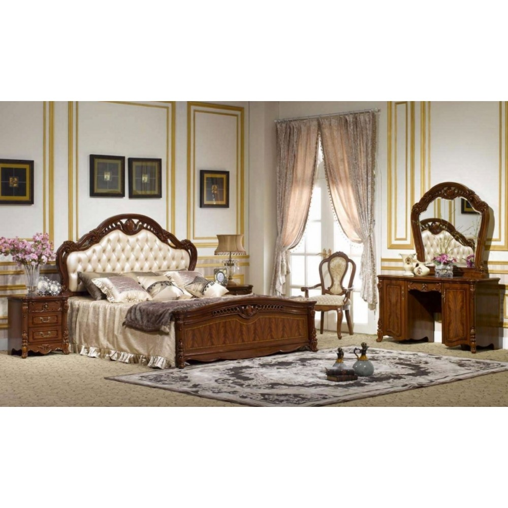 Кровать Виолетта (OYF-8929 200x180 MK-2901-BR) Red Cherry