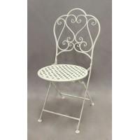Стул складной кованый Лов Чэир (Love Chair) Белый — Белый