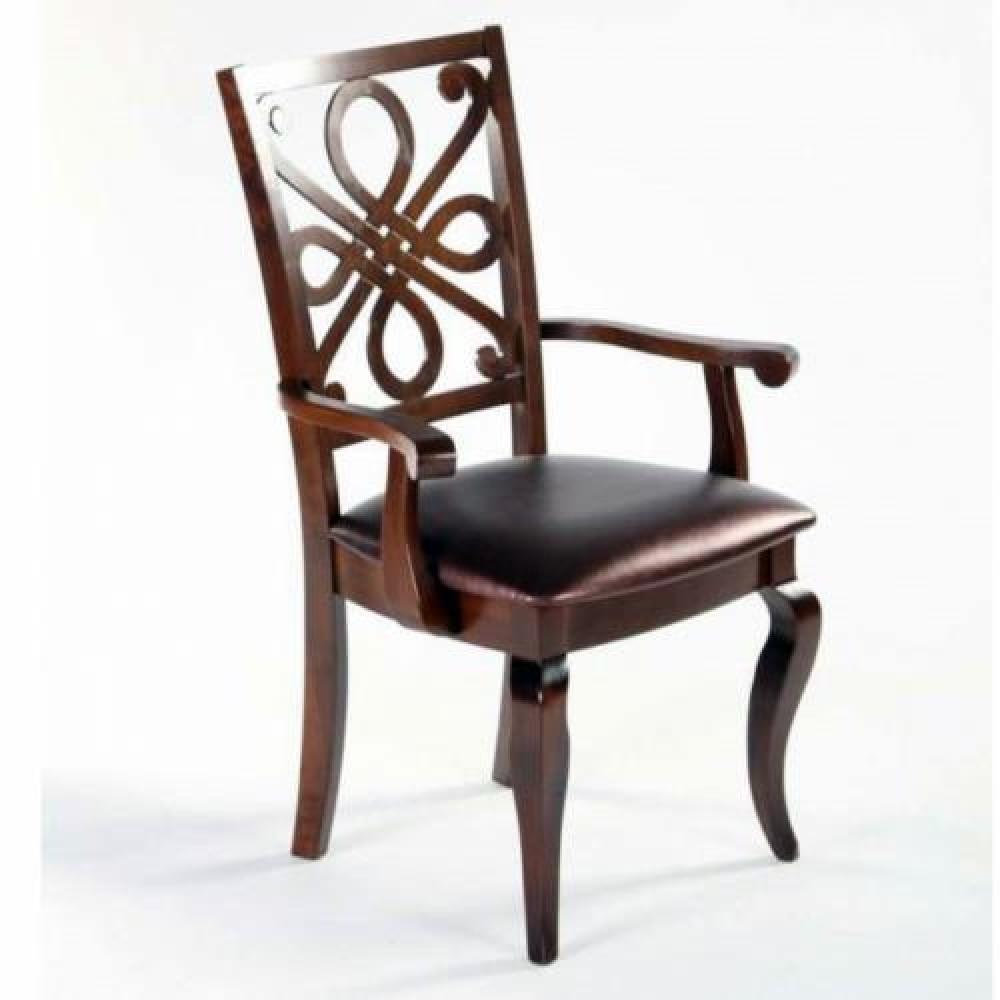 Кресло 7084 A (MK-1512-CP) Темный орех