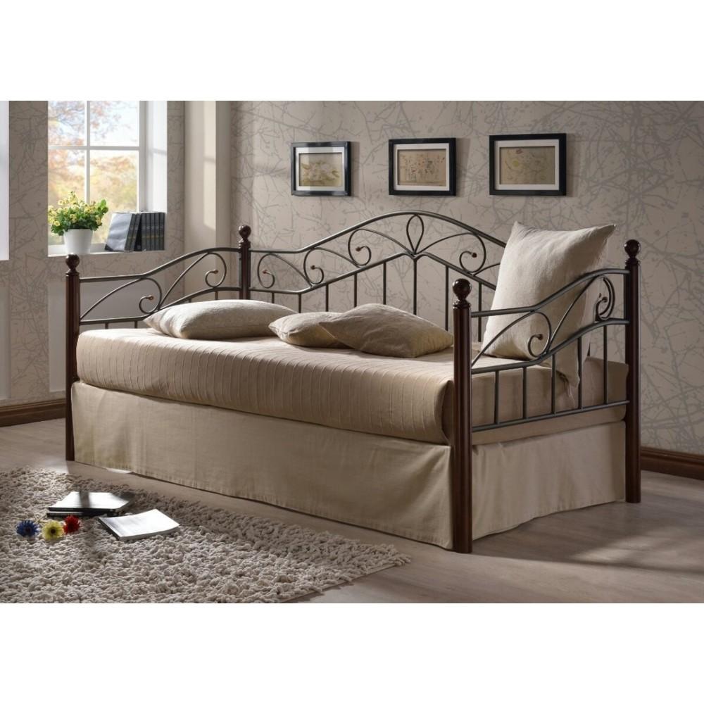 Кровать Мелис 200x90 (Melis MK-5234-RO) Темная вишня