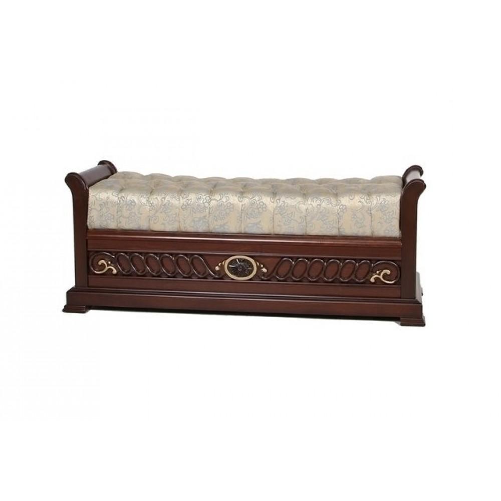 Банкетка большая Нотти (MK-1746-DN) Темный орех