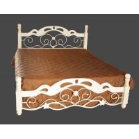 Кровать PS 8812 200x160 (MK-1954-AW металл) Античный кремовый