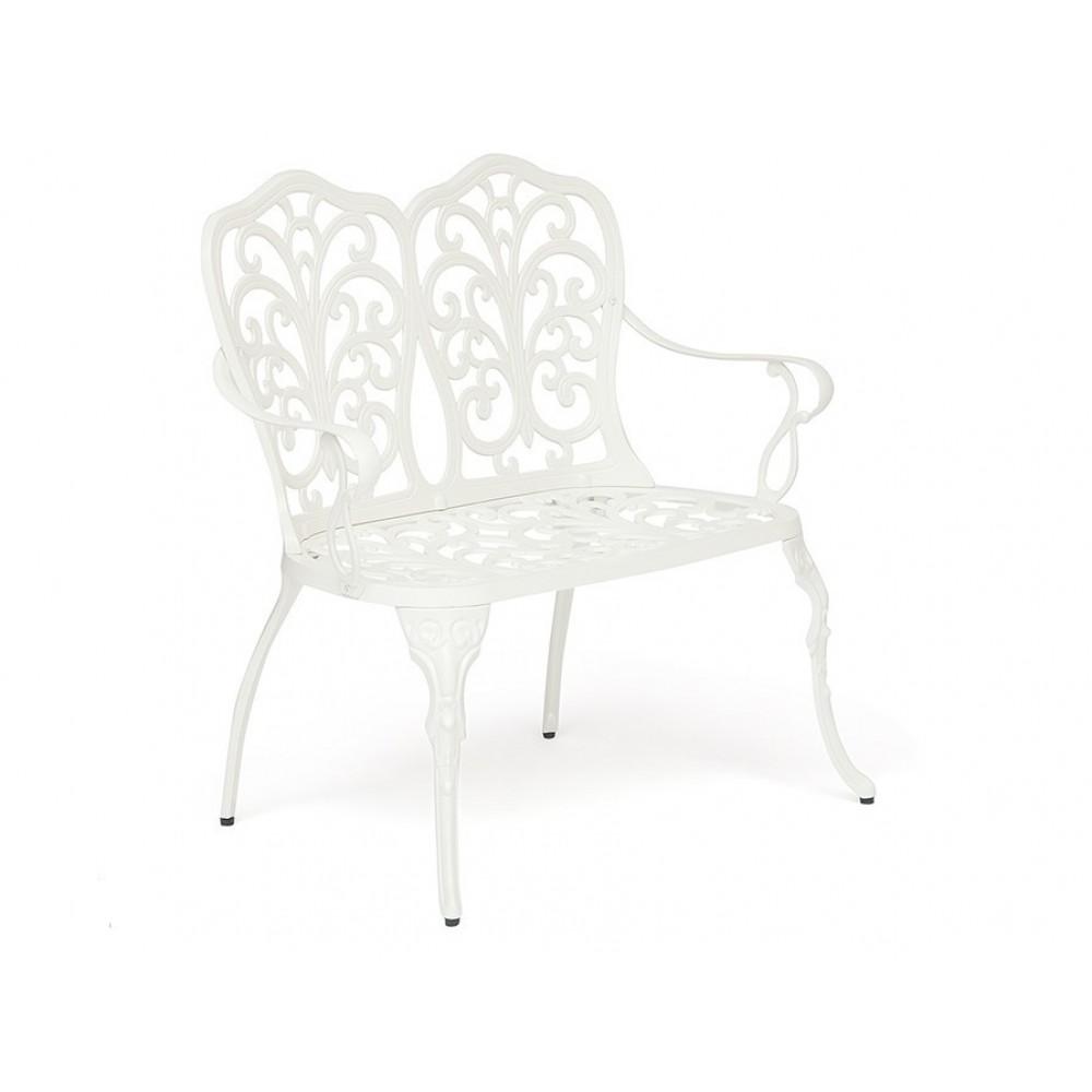 Скамья кованая Симфония (Secret De Maison Symphonie) Белый — Butter white (Светло кремовый)