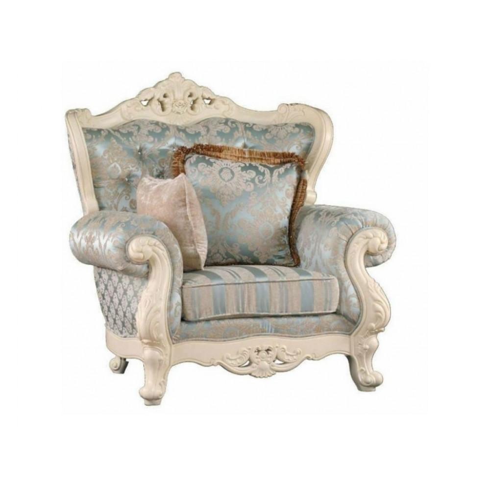 Кресло Милано ткань узор (MK-1898-IV) Слоновая кость