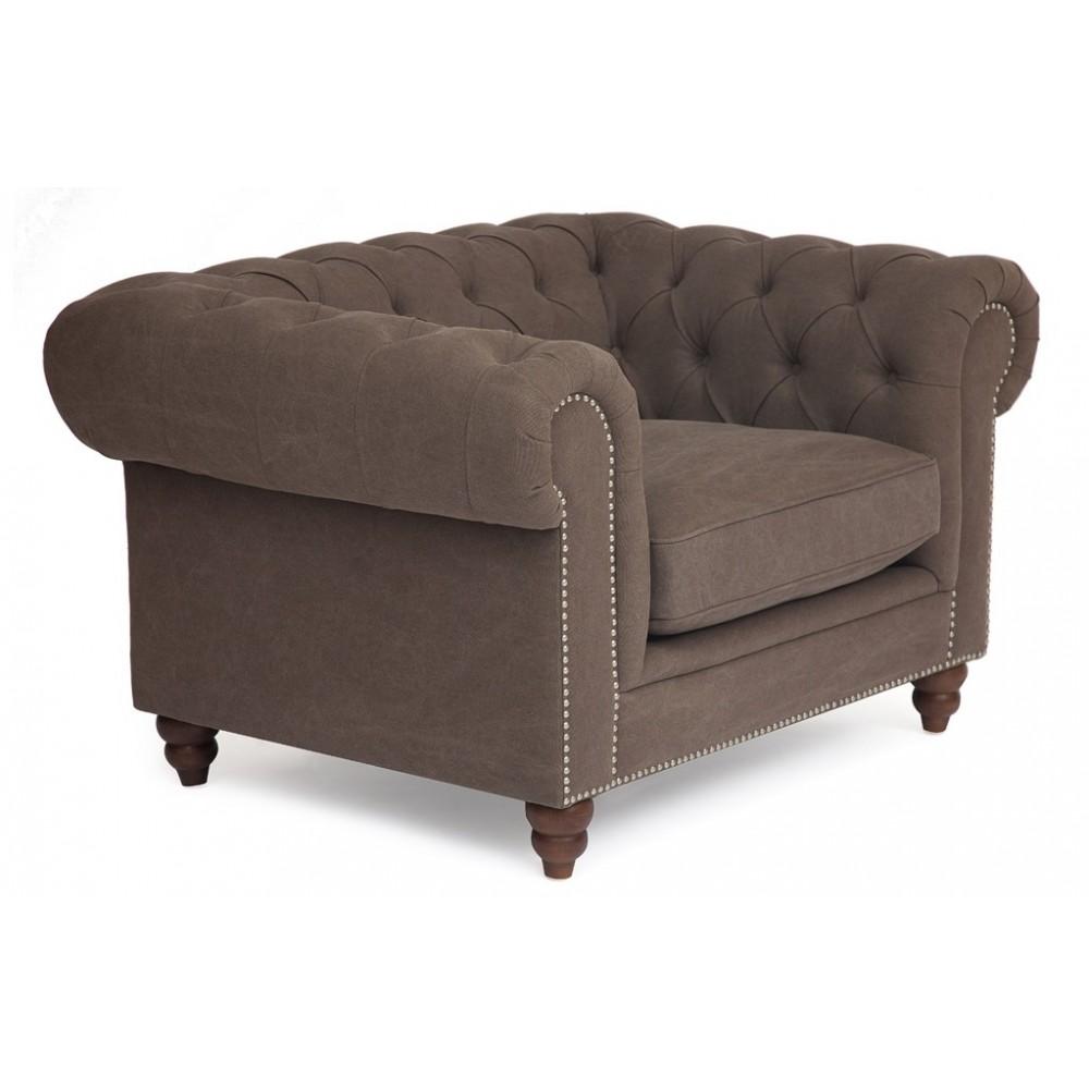 Кресло Честерфилд (Chesterfield) (mod. 5137-20) Серый — серый
